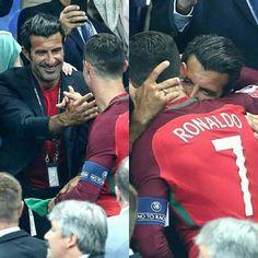 Figo and Ronaldo Cristino Ronaldo, Ronaldo Football, Cristiano Ronaldo Cr7, Football Fever, Football Is Life, Portugal National Football Team, Portugal Soccer, Soccer Baby, Soccer Pictures