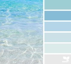 Escape Could be beautiful to base a house color palette off of ocean colors.Could be beautiful to base a house color palette off of ocean colors. Coastal Colors, Ocean Colors, Ocean Color Palette, Beachy Colors, Blue Colour Palette, Coastal Style, Coastal Decor, Interior Paint Colors, Paint Colors For Home