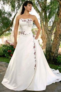 burgundy wedding dresses - http://www.wedding-female.com/2012/12/03/burgundy-wedding-dresses/