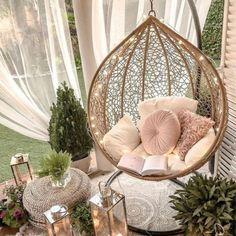 Room Ideas Bedroom, Girls Bedroom, Girl Bedroom Designs, Romantic Bedroom Design, Gold Bedroom Decor, Blue Bedrooms, Bohemian Bedroom Decor, Bedroom Chair, Sofa Bed