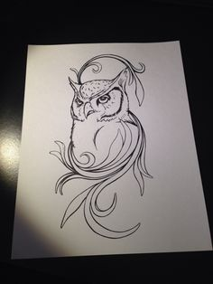 Owl illustration #design #illustration #drawing #owl