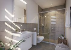 Projekt Sonnmattweg Suhr  #swissinteractive #SIAG #3drender #3dinterior #vray #vrayrender #interiordesign #visualization #bathroomideas #3dmax #postproduction #rendering #vraymaterials #vrayrender #3dbathroom V Ray Materials, 3d Max, Bathroom Interior, Alcove, Bathtub, Standing Bath, Bathtubs, Bath Tube, Bath Tub