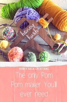 Make 3 sizes of yarn pom pom plus tassels in minutes with this easy to use  tool.  Learning how to make pom poms will open up a world of  cute possibilities.  #howtomakeapompom #pompomrug #pompomgarland #pompommaker #pompomwreath #pompomcrafts Pom Pom Wreath, Pom Pom Rug, Fall Mantle Decor, Mantle Ideas, Diy Tassel, Tassels, Diy Crafts To Do, Kids Crafts, Pom Pom Maker