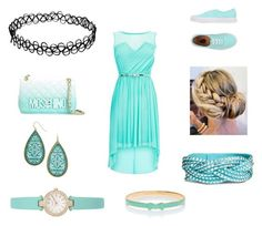 """""""Light blue dress"""" by shanza0284 ❤ liked on Polyvore featuring Vans, Moschino, Kate Spade, women's clothing, women, female, woman, misses and juniors"""