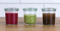 Salatdressings selbstgemacht!  Wie das ganz einfach geht erklärt Euch @liebeleiblog bei uns im Blog: http://bit.ly/3_Salatdressing_Rezepte