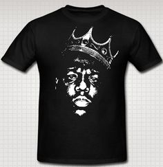 Biggie Smalls King Of Rap T-shirt by AllStarGear on Etsy