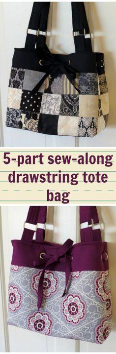 5  Peut être fait en patchwork trop   J'ai appris beaucoup de nouvelles compétences en sac et a obtenu un grand sac à la fin