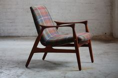 Phenomenal Arne Hovmand Olsen Danish Mid Century Modern Lounge Chair for Mogens Kold (Denmark, 1958)