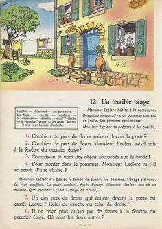 Manuels anciens: Tranchart, Levert, Rognoni, Bien lire et comprendre Cours élémentaire (1963) : grandes images French Learning Books, Teaching French, French Class, French Lessons, English Story Books, French Grammar, French Phrases, French Language, Learn French