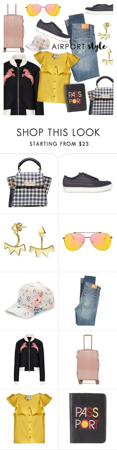 """Airport Style: Let's Go!"" by stacey-lynne ❤ liked on Polyvore featuring ZAC Zac Posen, Lanvin, Bling Jewelry, Topshop, BCBGeneration, Citizens of Humanity, STELLA McCARTNEY, CalPak, Sea, New York and Lizzie Fortunato Jewels"