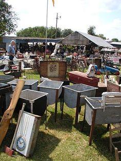 yard of sinks, Warrenton antique shows. Das  Blaue Haus field. Mr Dick Dickens