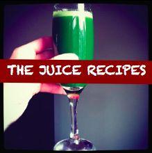 Grapefruit green juice: 1 grapefruit (skin peeled), 1 green apple, 1 head of kale, 4 celery stalks, 1/2 cucumber, 1 lime (peel).