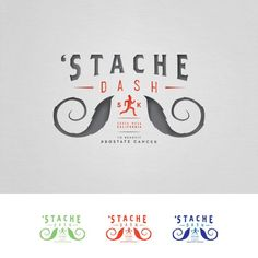 'Stache Dash' Logo needed for new FUN 5K running event (think of the Mustache Craze) by theculturedsquirrel