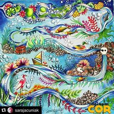 Ameiiiii!!!! @sarajacuniak   Inspirational Coloring Pages  #inspiração #coloringbooks #livrosdecolorir #jardimsecreto #secretgarden #florestaencantada #enchantedforest #reinoanimal #animalkingdom #adultcoloring #milliemarotta