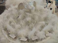 Décor pour bonbonnière à dragées thème ange