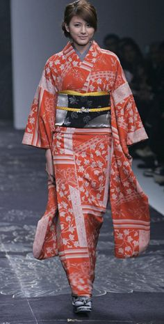 Japanese kimono designer Jotaro Saito at Japan Fashion Week - Japanese,kimono,designer,Jotaro Saito,Japan Fashion Week,show