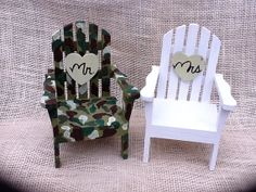 Camo Beach Chair Adirondack Cake Topper by WeddingFavorsandMore, $29.00