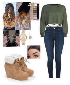 """""""Untitled #23"""" by abbiemiller-1 on Polyvore featuring JustFab, WithChic, Michael Kors, Estée Lauder and J Brand"""