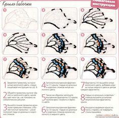 Схемы вышивки гладью бабочки. Фото №4