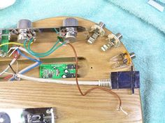 L-com's USB Coupler laid out before it is mounted inside a USB Guitar!