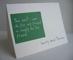 friendship card, henry david thoreau by bunkleberrystudios, via Flickr