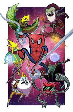 Spider Finn,Spider Finn,ele é o último humano mais aranha...🎶 Cuidado ele é o Spider Finn!