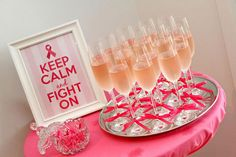 Breast Cancer Awareness Month — Make it a Pink Ribbon Breakfast. It's never too early for champagne.