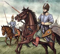 "Polish-Lithuanian Commonwealth, ""Wołoska style"" light cavalry, 17th century."