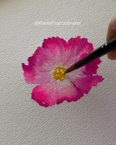 Watercolor Paintings For Beginners, Watercolor Art Lessons, Watercolor Flowers Tutorial, Floral Watercolor, Abstract Flower Art, Watercolors, Videos, Crafts, Inspiration