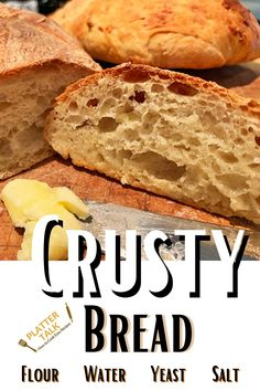 Learn how to make to bread with this simple homemade bread recipe from Platter Talk. Artisan Bread, Kid Friendly Meals, Recipe Of The Day, 3 Ingredients, Platter, Bread Recipes, Banana Bread, Easy Meals, Lunch