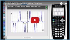 Click here to learn how to solve a trigonometric equation over an interval. Matte, Solving Equations, Theta, Knowledge, Learning, Studying, Teaching, Onderwijs, Facts