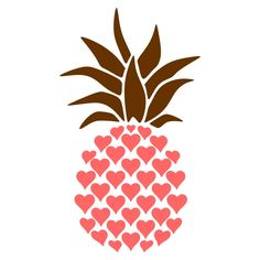 Pineapple Heart Cuttable Design