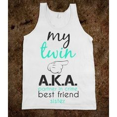 My Twin Left Pink Black-Unisex White Tank from Skreened. Saved to Epic Wishlist. Best Friend T Shirts, Best Friend Outfits, Sister Shirts, Best Friend Goals, Friends Shirts, Cute Shirts, Funny Shirts, Disney Outfits, Cute Outfits