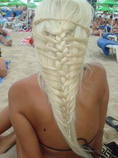 white braid