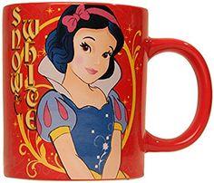 Silver Buffalo Disney Snow White Standing Ceramic Mug 14 oz. Red for sale online Disney Songs, Disney Theme, Disney Films, Disney Cartoons, Disney Stuff, Disney Princess Snow White, Snow White Disney, Disney Princess Ariel, Disney Dishes