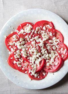 Easy peasy summer tomato salad.