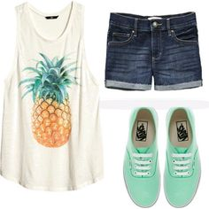 cute summer outfit. could really use some casual jean shorts