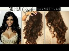 ★KIM KARDASHIAN BIG, CURLY, NO-HEAT CURLS /WAVES | CUTE SCHOOL #HAIRSTYLES FOR MEDIUM LONG #HAIR TUTORIAL