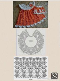 Crochet Thread Patterns, Baby Knitting Patterns, Baby Clothes Patterns, Baby Doll Clothes, Crochet Girls, Easy Crochet, Knit Crochet, Hello Kit, Crochet Baby Blanket Free Pattern