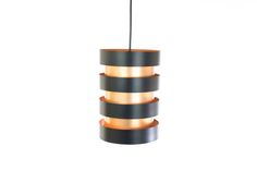 Jo Hammerborg for Fog & Mørup; Eiffel hanging lamp, copper, laquered metal, Denmark