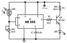 Traffic Light Control Electronic Project using 4017 & 555