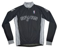NBA San Antonio Spurs Mens Long Sleeve Cycling Away Jersey XL Black ** For more information, visit image link.Note:It is affiliate link to Amazon.