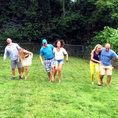 Backyard BBQ Three Legged Race