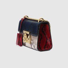 Gucci Padlock python shoulder bag