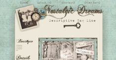 A warm brown distressed script font, and vintage-style elements rest against a soft ivory inner background, surrounded by muted, grungy aqua 'paper. All Design, Graphic Design, Aqua Background, Romantic Cottage, Business Website, Vintage Fashion, Vintage Style, Wordpress Theme