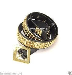 Harley Quinn Gold Pyramid Studs Belt Costume with Watchme...