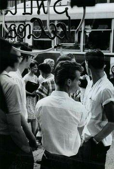 Looking through window 1950s