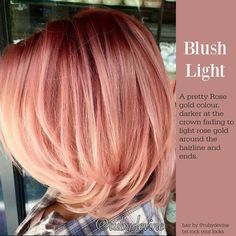 Are you looking for rose gold hair color hairstyles? See our collection full of rose gold hair color hairstyles and get inspired! Bob Hair Color, Hair Color And Cut, Bob Hairstyles, Pretty Hairstyles, Short Haircuts, Medium Hairstyles, Hairstyle Ideas, 2017 Hairstyle, Haircut Short