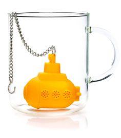 Tea Sub yellow submarine tea infuser  #cool #stocking #shopping #mzube #gift #quirky #sale #xmas #birthday #santa   http://www.mzube.co.uk