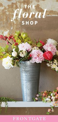 Learn how to make a water-free arrangement with florals so lifelike no one will guess they aren't fresh from the garden. Silk Flowers, Beautiful Flowers, Beautiful Gardens, Wedding Flowers, Floral Wedding, Little Buds, Silk Flower Arrangements, Flower Pots, Fall Decor
